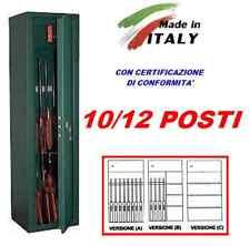 ARMADIO CASSAFORTE PORTAFUCILI E PIANI FUCILIERA BLINDATO 10/12 POSTI FUCILI