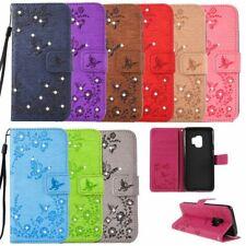 Flip Cover Schutz-Hülle BOOK #S21 STRASS zu SAMSUNG GALAXY S9 Handy-Tasche Case