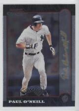1999 Bowman Chrome Gold Signature 20 Paul O'Neill New York Yankees Baseball Card