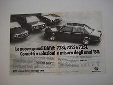 advertising Pubblicità 1980 BMW 728i - 732 i - 735 i