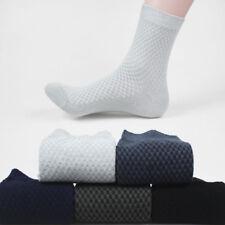 AU Mens Bamboo Fiber Socks Business Antibacterial Deodorant Breathable Sock Crew