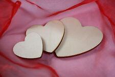 Holz Herz 3,4,5,8,10,15,20,24 cm DekoTischdeko Hochzeit Taufe Basteln Schmücken