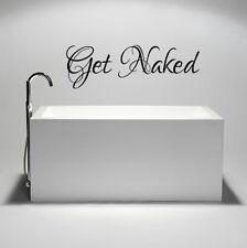 Get Naked Vinile Muro ARTE Adesivo Camera Da Letto / Bagno / Doccia locale / Home