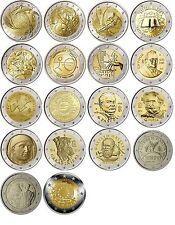 Italy 2 euro  coins 2004 - 2015, UNC Italie Italia Italien Италия FDC