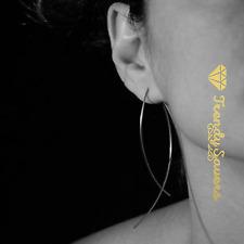1 Pair Trendy Simple Women's Silver/Gold  Fish Style Drop Dangle Stud Earrings
