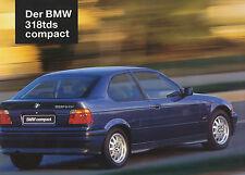 BMW  318 tds compact Prospekt 1995 brochure Autoprospekt Auto Pkw Deutschland