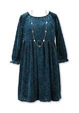 SPEECHLESS® Girls' 8, 14 Teal Babydoll Velvet Necklace Holiday Dress NWT $58