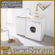ARCKSTONE Lavatoio Copri Lavatrice Montegrappa Edilla Bianco Bagno 109X60X89