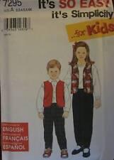 7295 Vintage Simplicity SEWING Pattern Childs Vest & Pants 2-6X UNCUT OOP NEW FF