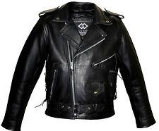 Hombre MARLON BRANDO Negro Motociclista Protectora Cubierta Terminator Estilo