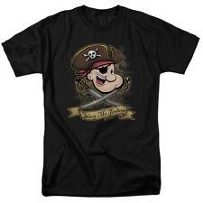 Popeye Shiver Me Timbers Pirate Classic Cartoon T-Shirt Tee