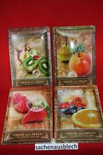 4 Fruits Panneaux métal étain 20x30 cm dans le jeu - métallique Cuisine
