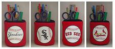 MLB Baseball PENCIL HOLDER Great GIFT 4 Home Office Desk Garage Pencil Case