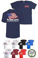 Phi Sigma Kappa PSK Fraternity Bella+Canvas American Flag USA Shirt