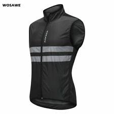 Mens Cycling Windproof Vest Bike Reflective Gilet Waistcoat Sleeveless Jerseys