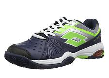 LOTTO RAPTOR ULTRA IV JR-Bambini Scarpe da tennis-UNISEX-BLACK-GREEN - r0061