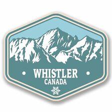 2 x Whistler Canada Vinyl Sticker Car Travel Luggage #9771