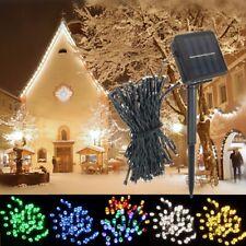 8M 60 Led Solar Power Fairy String Light Lamp Party Xmas Outdoor Garden Decor