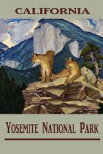 Yosemite National Park California Pumas Cliff Vintage Poster Repro FREE SHIP