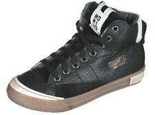 Momino 2123M winter Sneakers Chucks Leder Schwarz Rot Lammfell Unisex 31-40 Neu