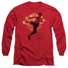 Bruce Lee Martial Arts Immortal Dragon Adult Long Sleeve T-Shirt Tee