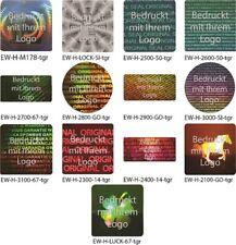 Hologramm-Aufkleber, Siegel Aufkleber, Hologramm Etikett, grau bedruckt von EW