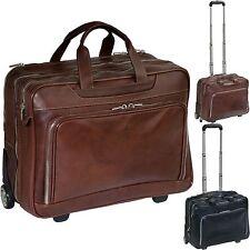 TONY PEROTTI Pilotenkoffer Leder Koffer Laptopfach Trolley Business Reise Tasche