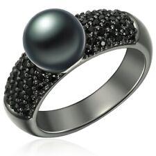 Valero Pearls Anillo, Perlas de agua dulce, 925 Plata ennegrecido