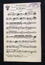 """Wagner """"La Valkyrie"""" gestochener notensatz pour orchestre de Fr. Eberle-Lyre nr1035"""