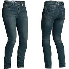 Lindstrands mayson mujer resistente a la abrasión AZUL MOTO Corto Jeans Pierna
