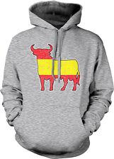 Spain Flag Distressed Colors Bull Running Bulls Red Yellow ESP Hoodie Sweatshirt