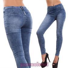 Jeggings mujer pantalones elástico ajustado delgado pitillo nuevo J13049-2
