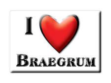 SOUVENIR UK - SCOTLAND FRIDGE MAGNET I LOVE BRAEGRUM (PERTH AND KINROSS)