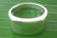 REAL 925 sterling silver Rectangular Plain Ring Big size 5.75 to 15.75 Men Women