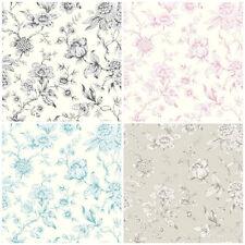 Shabby Chic Design Studio - Jardin  Flower - Toile De Jouy - Delicate Wallpaper