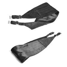 Punk Rave S-174 hombre cintura cinturón Elegante Victoriano Steampunk Negro Satinado