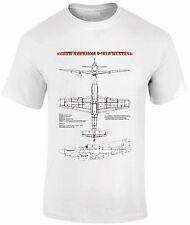 T-Shirts FPBP302  North American P-51 Mustang Blue Prints Aircraft