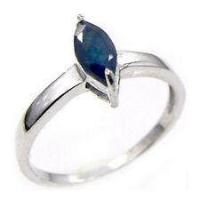 Damen Ring Candice, 925er Silber, 0,65 Kt. Saphir, 4 x 8 mm