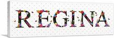 ARTCANVAS REGINA Girls Name Room Decor Canvas Art Print
