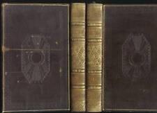 JUVENAL SATIRES 1825 JOLIES RELIURES PLEIN CUIR 2 VOLUMES LATIN-FRANCAIS