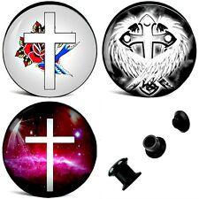 4MM-16MM Ear Plug cross cross Rose Celtic Angel Tunnel Ear Screw Tunnel Plugs