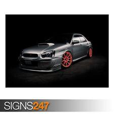 SUBARU IMPREZA TUNING (AA466) CAR POSTER - Photo Poster Print Art A0 A1 A2 A3 A4