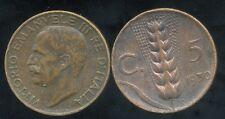 ITALIE   ITALY  5 centesimi 1930  ( bis )