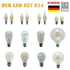 E27 E14 2W 4W 6W 8W LED Filament Glühbirne Lampe Kerzen Kugel Birne Leuchtmittel