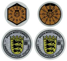 Stuttgart Germany License Plate Complete Sticker Set - Mercedes-Benz, Porsche