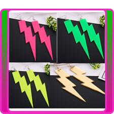 Glitter Lightning EARRINGS Rock Pop Star 80s Party 1980s Fluro Neon Earring
