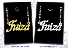 Collier Prénom FAIZA 18k Plaqué or - Arabe Musulman Accessoires De mariée Cadeau