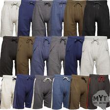 MYT Mens Plain Zip Pocket Shorts Cotton Fleece Sweat New Designs Modern S - 2XL