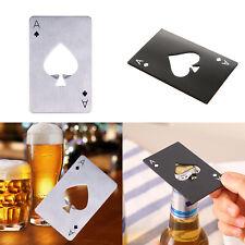 Mini Spade A Poker Card Beer Bottle Opener Kits Stainless Steel Bottle Opener
