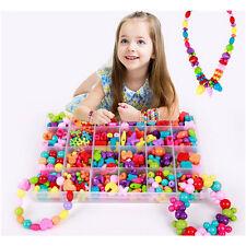 450pcs/Set DIY Colorful Beads Bracelets Kids Personalized Jigsaw-Puzzle Toys JFO